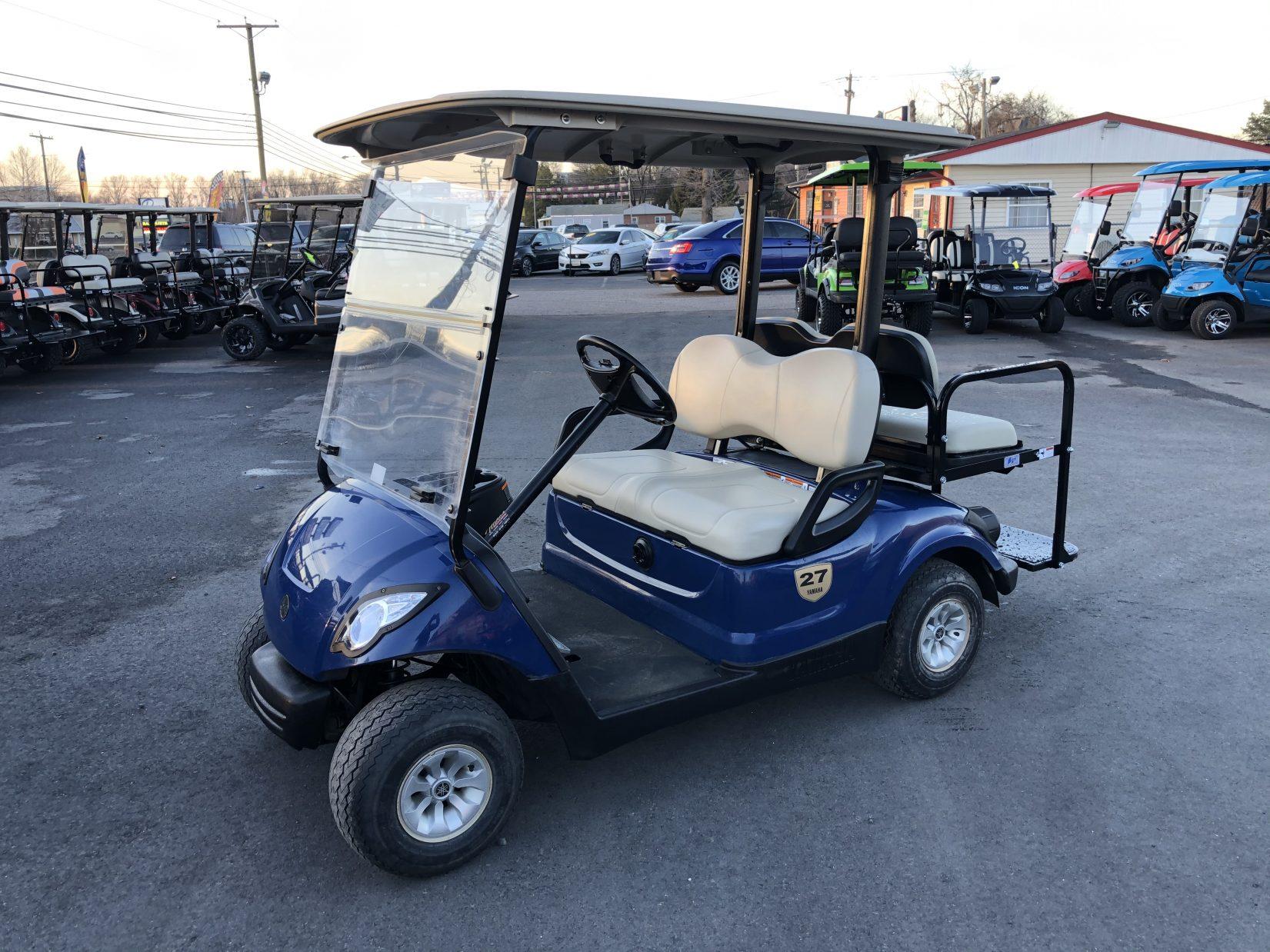 2016 Yamaha 48 volt electric golf cart Blue, 4 seat, LED ...
